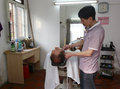 Barber shop in village Royalty Free Stock Photo