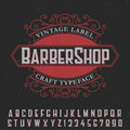 Barber Shop Vintage Label Poster