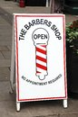 Barbers shop sign, Leominster. Royalty Free Stock Photo