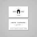 Barbershop business card design concept barbershop logo with long hair woman hair salon business card vintage hipster and retro Royalty Free Stock Photos