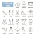 Barbershop icons. Set of vector pictogram
