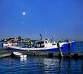Barca dell aragosta nel porto della segale Immagine Stock Libera da Diritti