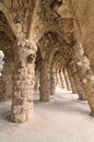 Barcelona amazing stone arches park guell famous beautiful park designed antoni gaudi one highlights city Stock Photography