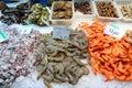 Barcelona Boqueria fish market Royalty Free Stock Photo