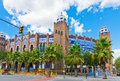 Barcelona bullring La Monumental byzantine and mudejar moorish s Stock Photography