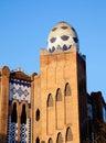 Barcelona bullring La Monumental mosaic egg Stock Image