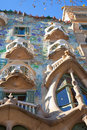 Barcelona Casa Batllo facade of Gaudi Stock Photos