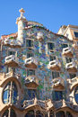 Barcelona Casa Batllo facade of Gaudi Royalty Free Stock Photography