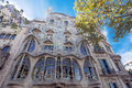 Barcelona casa battlo september batllo on september in building was restored by antoni gaudi and josep maria jujol built in the Royalty Free Stock Photo