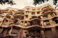 Barcelona catalonia spain august modernism style architecture casa mila aka la pedrera catalan for the quarry on august this house Royalty Free Stock Photo