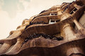 Barcelona catalonia spain august modernism style architecture casa mila aka la pedrera catalan for the quarry on august this house Royalty Free Stock Image