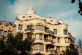 Barcelona catalonia spain august modernism style architecture casa mila aka la pedrera catalan for the quarry on august this house Royalty Free Stock Photography