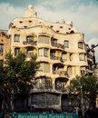 Barcelona catalonia spain august modernism style architecture casa mila aka la pedrera catalan for the quarry on august this house Royalty Free Stock Photos