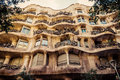 Barcelona catalonia spain august modernism style architecture casa mila aka la pedrera catalan for the quarry on august this house Stock Images