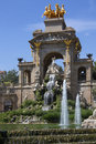 Barcelona catalonia spain ornamental fountains in the parc de la ciutadella in the old town district of in the region of Royalty Free Stock Photos