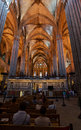Barcelona Cathedral Church Stock Images
