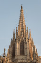 Barcelona cathedral facade details Royalty Free Stock Photo