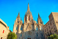 Barcelona cathedral the of the holy cross and saint eulalia also known as Stock Photo