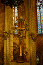 Barcelona cathedral old town barcelona spain main altar of of the holy cross and saint eulalia was Stock Image