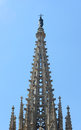 Barcelona cathedral old town barcelona spain main tower of of the holy cross and saint eulalia was Stock Images