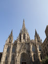 Barcelona cathedral view of the Royalty Free Stock Photography