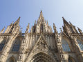 Barcelona cathedral view of the Royalty Free Stock Images