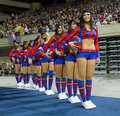 Barcelona cheerleaders Royalty Free Stock Photography