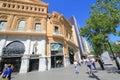 Barcelona city street view