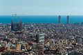 Barcelona city view the from the top Royalty Free Stock Photography