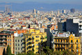 Barcelona cityscape top view spain Royalty Free Stock Images