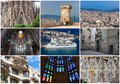 Barcelona collection of beautiful photos in spain Royalty Free Stock Image