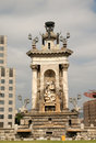 Barcelona de espana placa spain Arkivbild