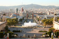 Barcelona evening. Royalty Free Stock Photos