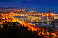 Barcelona in evening Royalty Free Stock Photo