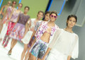 Barcelona fashion custo barcelona catwalk the spanish brand presented its new spring summer collection during the third day of in Stock Images