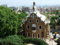 Barcelona guell parc Spain Obrazy Stock