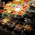 Barcelona larambla street market sweets Stock Image