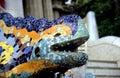 Barcelona Lizard Fountain Stock Photography