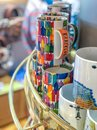 BARCELONA - MAY 14, 2018: Gaudi style souvenirs in a classi city Royalty Free Stock Photo