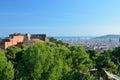 Barcelona mening van park güell Stock Afbeelding