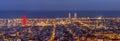 Barcelona at night Royalty Free Stock Photo