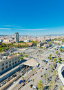 Barcelona panorama widok Fotografia Royalty Free