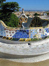 Barcelona: Park Guell, beautiful park by Gaudi Royalty Free Stock Photos