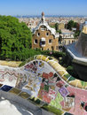 Barcelona: Park Guell, beautiful park by Gaudi Royalty Free Stock Image