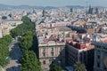 Barcelona Rambla Spain Stock Image