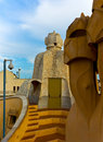 Barcelona roof of casa mila Royalty Free Stock Photography