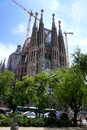 Barcelona's famous cathedral La Sagrada Familia Stock Photography