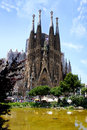 Barcelona's famous cathedral La Sagrada Familia Royalty Free Stock Photography