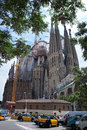 Barcelona's famous cathedral La Sagrada Familia Stock Images