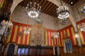 Barcelona s town hall barcelona spain magnificent council chamber catalan the saló de cent spanish salón de ciento of casa Royalty Free Stock Photo